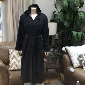 London fog limited edition 8p trench coat black